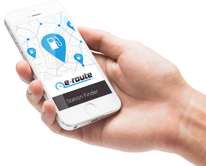 find your nearest fuel station with the eroute app